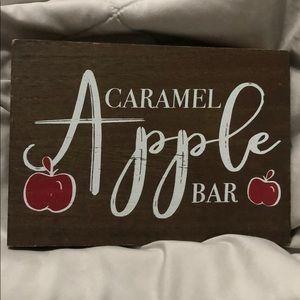 Caramel Apple Bar Sign